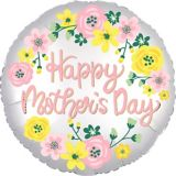Floral Satin Mother's Day Balloon, 18-in | Amscannull