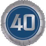 Vintage Happy Birthday 40th Birthday Balloon | Amscannull