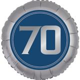 Ballon 70e anniversaire, bonne fête rétro | Amscannull