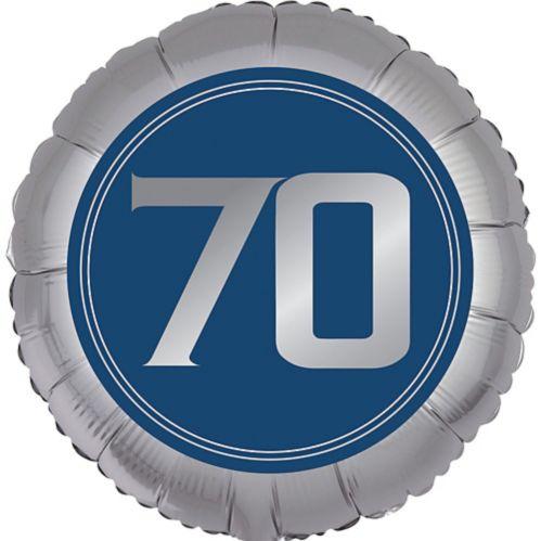 Ballon 70e anniversaire, bonne fête rétro