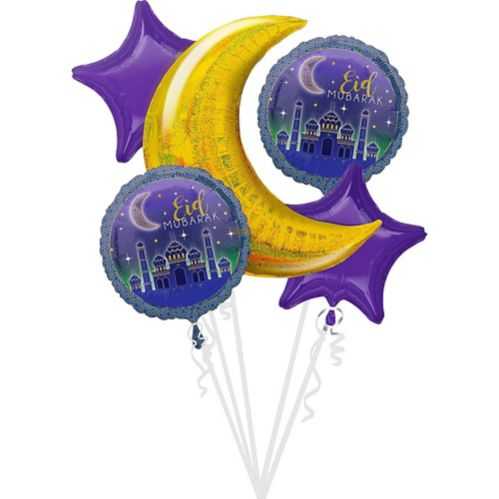 Eid Balloon Bouquet, 5-pc