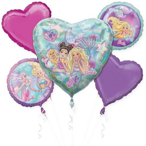 Bouquet de ballons, Barbie sirène, paq. 5
