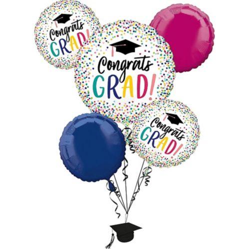 Yay Grad Balloon Bouquet, 5-pc