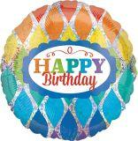 Hip Hip Hooray Rainbow Birthday Balloon | Amscannull