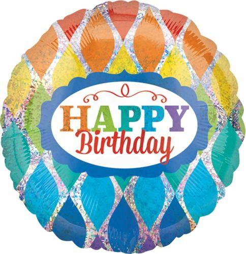Hip Hip Hooray Rainbow Birthday Balloon