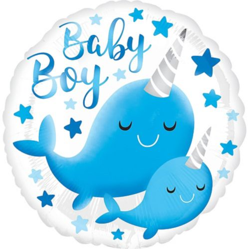 Narwhal Baby Balloon