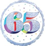 Sparkling Celebration 65th Foil Birthday Balloon, 18-in | Amscannull