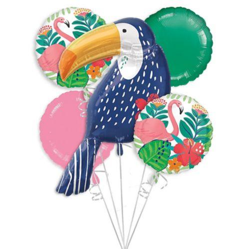 Tropical Jungle Balloon Bouquet, 5-pc