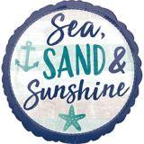 Ballon Mer, sable et soleil, 17po | Amscannull
