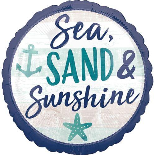 Ballon Mer, sable et soleil, 17po
