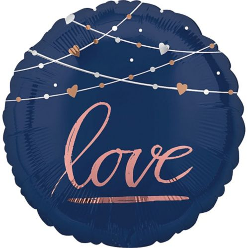 Ballon Better Together, bleu marine, 17 po