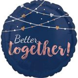 Ballon Better Together, bleu marine, 17 po | Amscannull