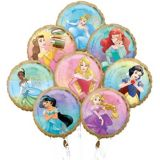 Bouquet de ballons Princesse Disney, paq. 8 | Amscannull