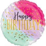 Watercolor Pastel Birthday Balloon | Amscannull