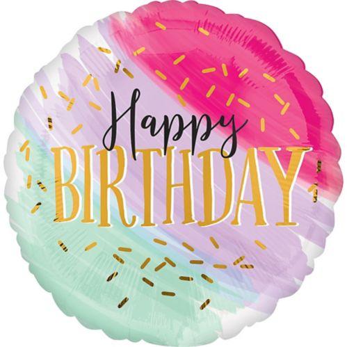 Watercolor Pastel Birthday Balloon