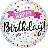 Prismatic Colorful Confetti Happy Birthday Balloon | Amscannull
