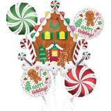 Christmas Gingerbread Balloon Bouquet, 5-pc | Amscannull