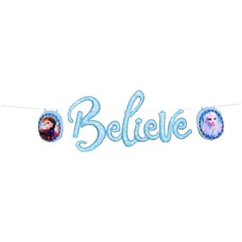 Banderole de ballons gonflés Believe, La Reine des neiges 2, paq. 3