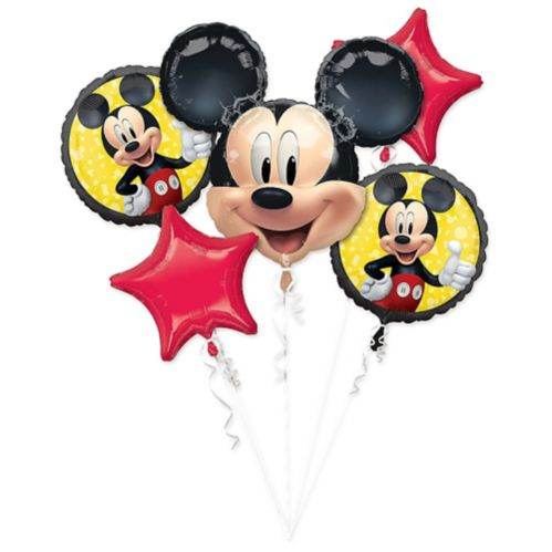 Mickey Mouse Forever Balloon Bouquet, 5-pc