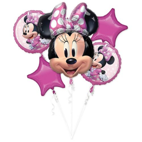 Bouquet de ballons Minnie Mouse Forever, paq. 5