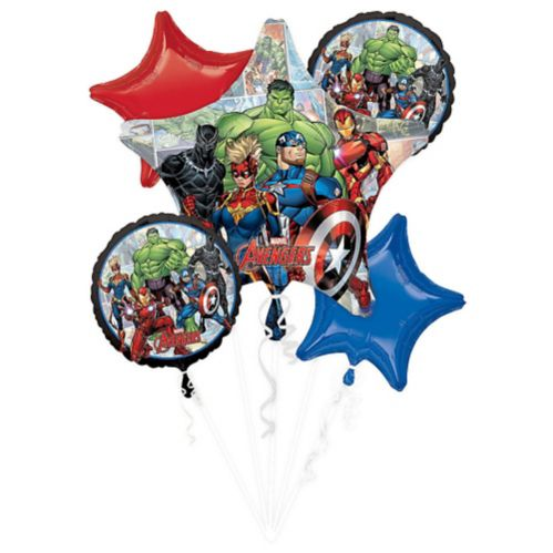Marvel Powers Unite Balloon Bouquet, 5-pc