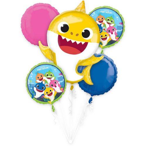 Baby Shark Balloon Bouquet, 5-pc
