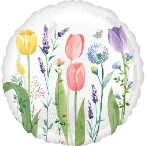 Ballon Jardin de tulipes, 17po