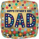 Ballon Happy Fathers Day, en aluminium | Amscannull