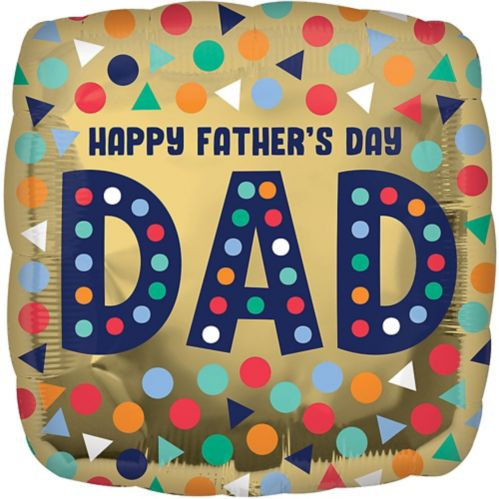Ballon Happy Fathers Day, en aluminium