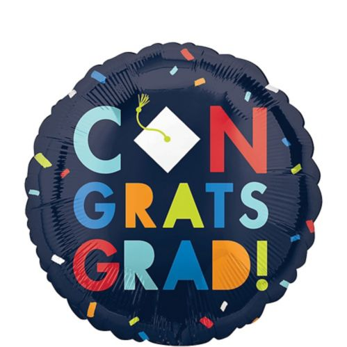 Navy Class of Awesome Congrats Graduation Balloon, 18-in