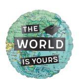 Ballon de remise des diplômes Le monde nous attend, Congrats, 18po | Amscannull