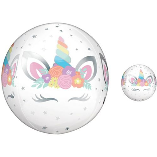 Ballon Licorne festive, See Thru Orbz