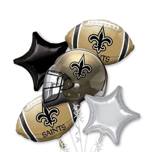 Bouquet de ballons Saints de la Nouvelle-Orléans, 5pièces