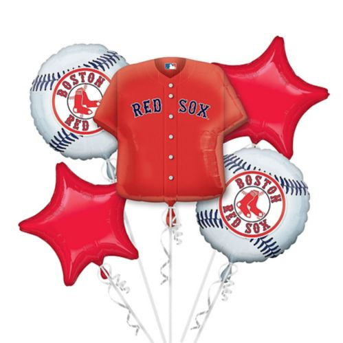 Bouquet de ballons Jersey des Red Sox de Boston, 5 pièces