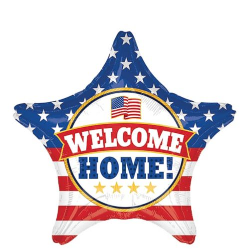 Patriotic Welcome Home Star Balloon