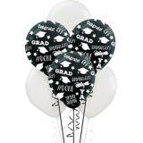 Black & White Graduation Balloons, 15-pk | Amscannull
