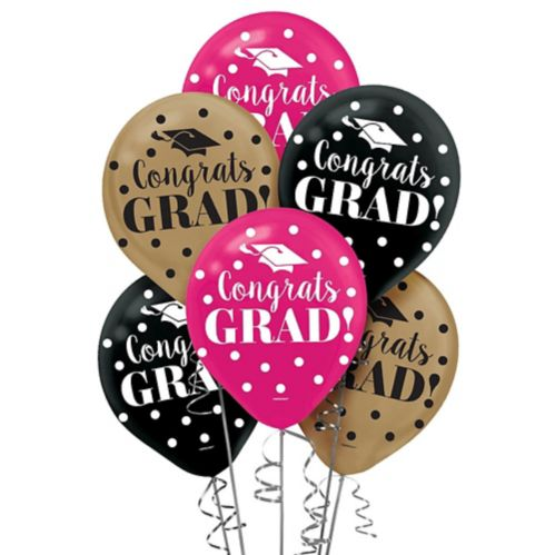 Ballons de remise des diplômes colorés, paq. 15