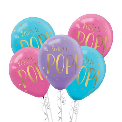 Ready To Pop Baby Shower Balloons, 6-pk