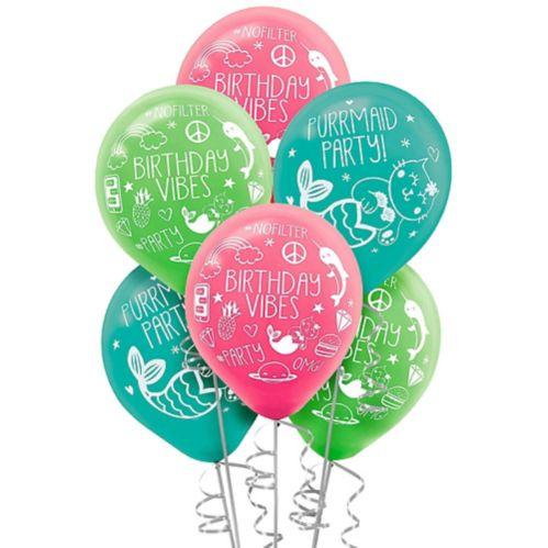 Ballons Anniversaire, Fête égoportrait, paq. 6