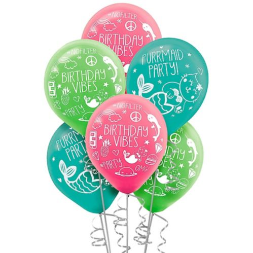 Selfie Celebration Birthday Balloons, 6-pk