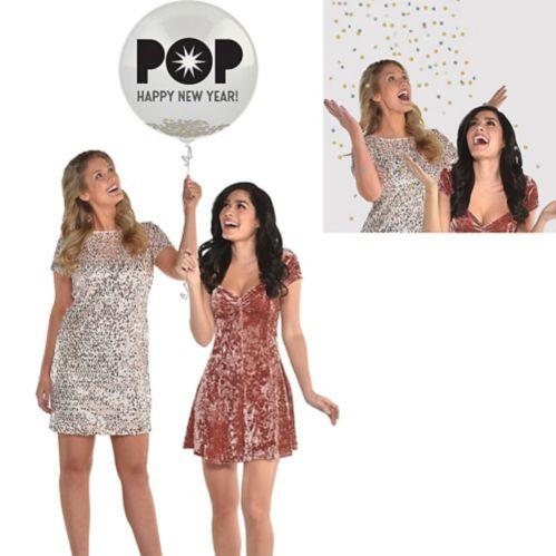Pop Happy New Year Confetti Balloon Product image
