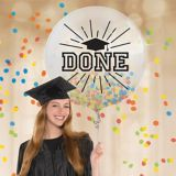 Multicoloured Graduation Confetti Balloon | Amscannull