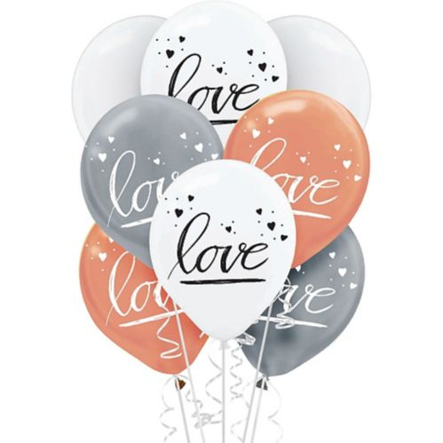 Navy Love Balloons, 15-pk