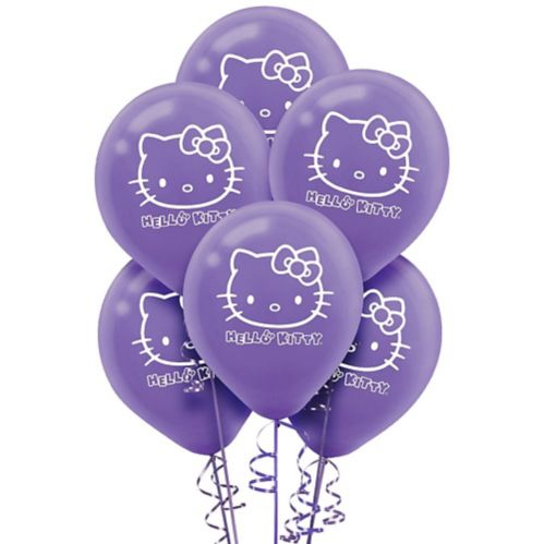 Ballons Hello Kitty arc-en-ciel, paq. 6