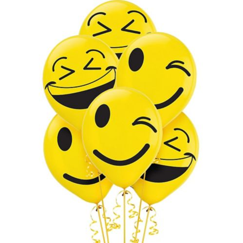 Ballons Smiley, paq. 6