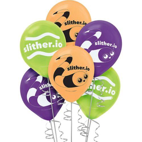 Slither.io Balloons, 6-pk