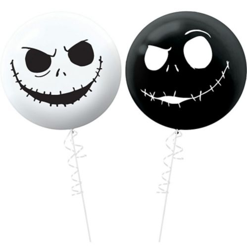 Jack Skellington The Nightmare Before Christmas Balloons, 2-pc