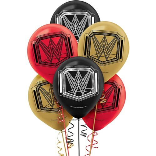 Ballons en latex WWE Champion, paq. 6