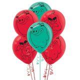 Ballons en latex Angry Birds 2, paq. 6   Amscannull