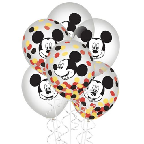 Ballons à confettis Mickey Mouse Forever, paq. 6